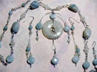 amazonite wire sculpted set
