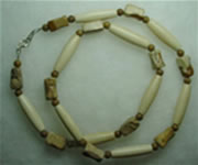 bone and dog bone cut picture jasper necklace 001