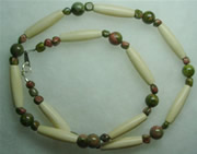 bone and unakite necklace 002