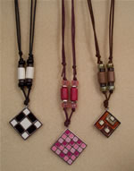 adjustable cotton cord necklaces