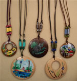 hand_painted adjustable cord necklaces