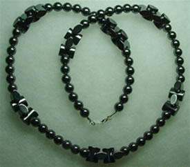 Hematite necklace 001