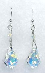 Crystal A/B baroque earrings