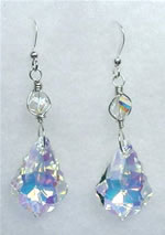Large Baroque Crystal A/B Swarovski Crystal Earrings