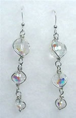 Multi Faceted Crystal A/B Disco Drop Swarovski Crystal Earrings