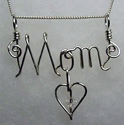 Mom Sterling Pendant