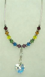 Rainbow swarovski necklace 001