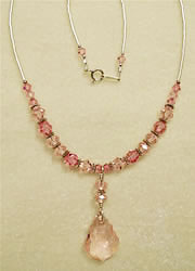 Lt. Rose  Swarovski Necklace