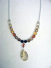 Smoky Topaz Swarovski Crystal Necklace