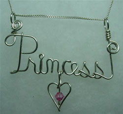Princess Wire Sculpted Pendant