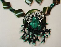 turquoise frog on turquoise lilly pad necklace